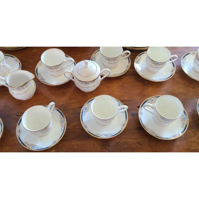 1990s 6 Piece Service for 12 Lenox Abigail Porcelain China Dinnerware Set, 1990s ~ Mint ~ For Sale - Image 5 of 13