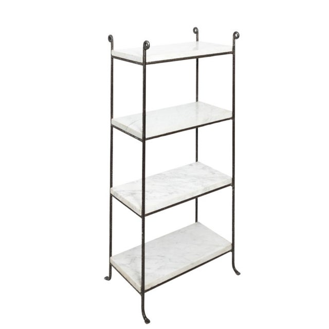Black Contemporary Iron and Marble Shelves - a Pair For Sale - Image 8 of 9