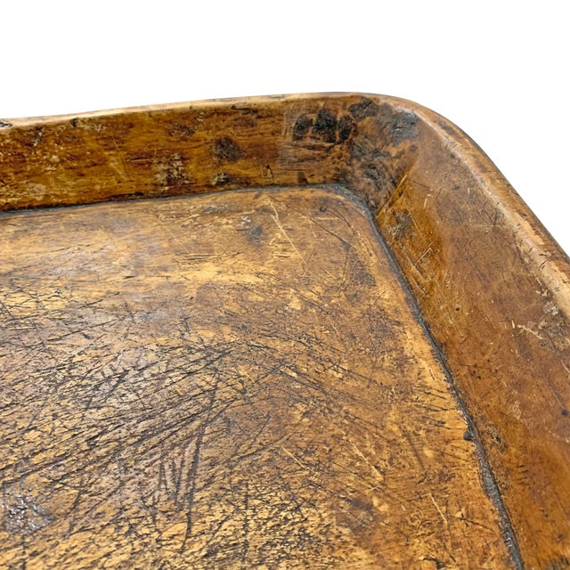 Wood 19th Century Carved Wood Tray For Sale - Image 7 of 10