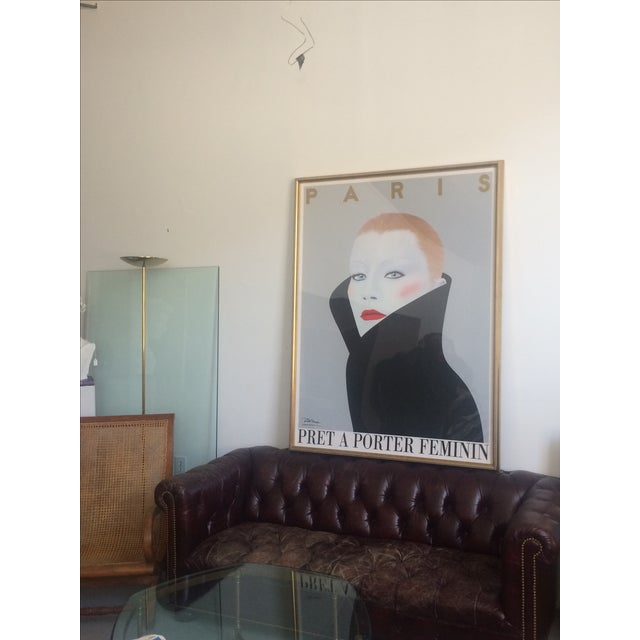 "Contemporary ""Pret a Porter Feminin"" Framed Poster For Sale - Image 3 of 3"