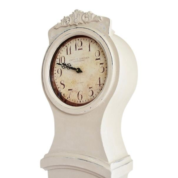 Hand Painted Antique White Mora Clock Reproduction For Sale In Greensboro - Image 6 of 7