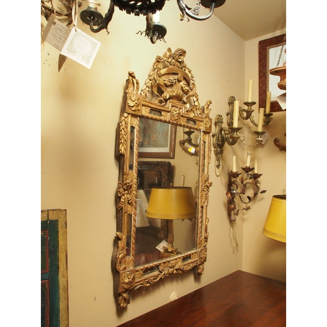 Gold Epoch Louis XVI Gilt Wood Mirror For Sale - Image 8 of 9