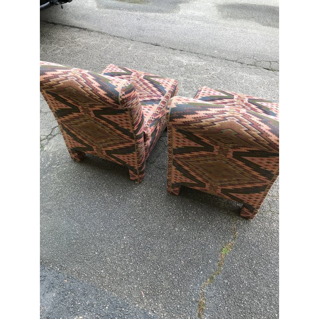 Century Furniture Mid Century Century Furniture Parsons Style Slipper Chairs- A Pair For Sale - Image 4 of 13