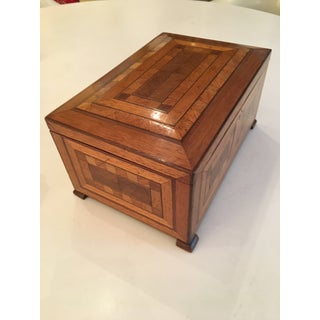 1910s Antique English Marquetry Box Preview