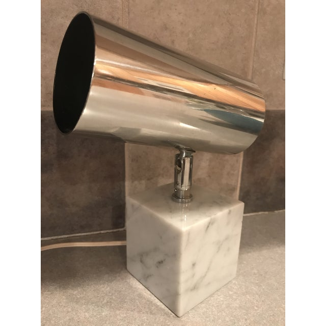 1960s Vintage Koch & Lowy Carrera Marble Base Table Lamp For Sale - Image 9 of 10