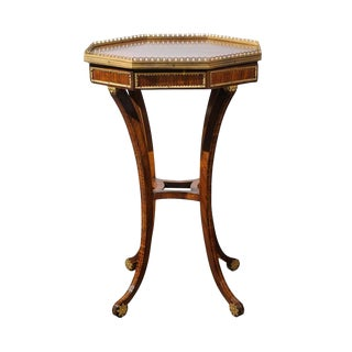 English Regency Rosewood Veneered Octagonal Side Table from the 1820s