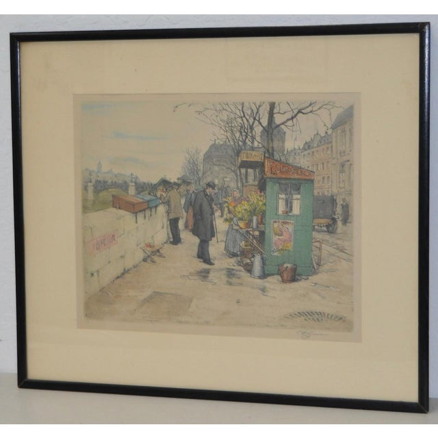 Realism Czech Artist t.f. Simon Color Lithograph C.1920 For Sale - Image 3 of 7