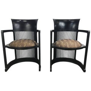 606 Barrel Taliesin Chairs Frank Lloyd Wright for Cassina - A Pair For Sale