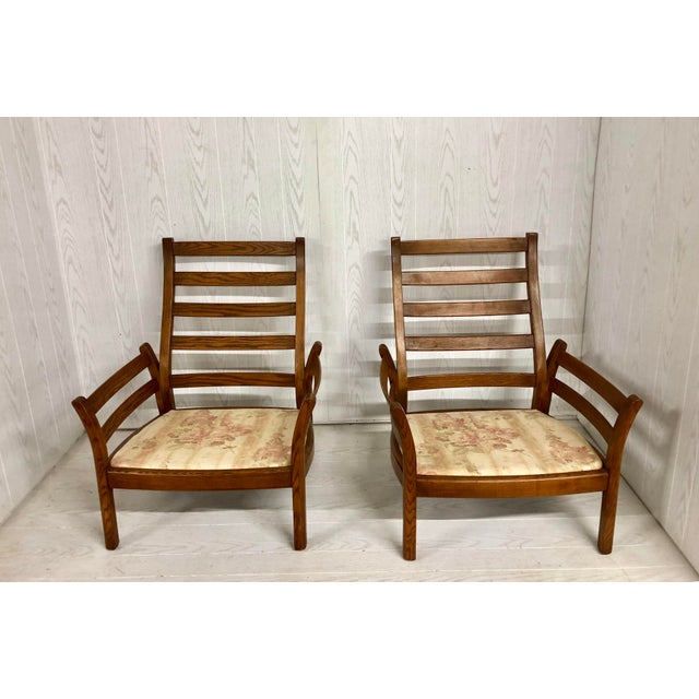 Brown 1980s Mid-Century Modern Ercol Savlle Arm Chairs - a Pair For Sale - Image 8 of 10