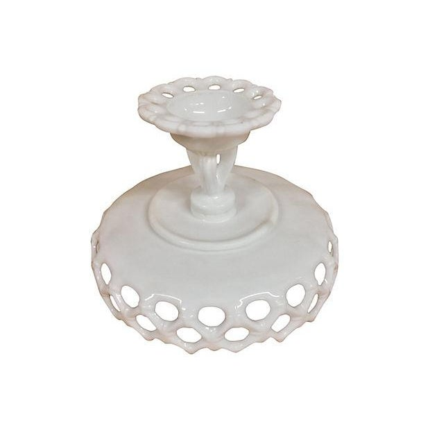 Hexagonal Milk Glass Candy Dish - Image 4 of 4