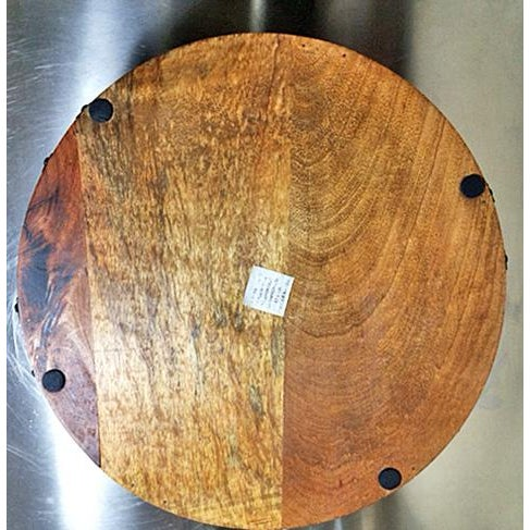Industrial Rustic Wood & Metal Bar Tray For Sale - Image 4 of 10