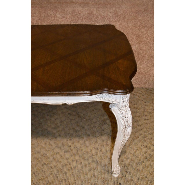 Parquet Top French Style Oak Dining Table For Sale - Image 4 of 12
