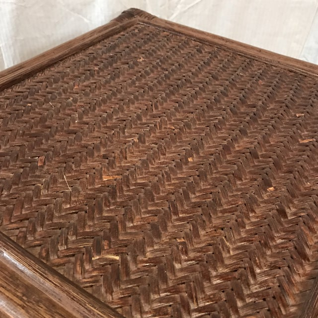 Rattan Stairstep Shelf For Sale - Image 5 of 6