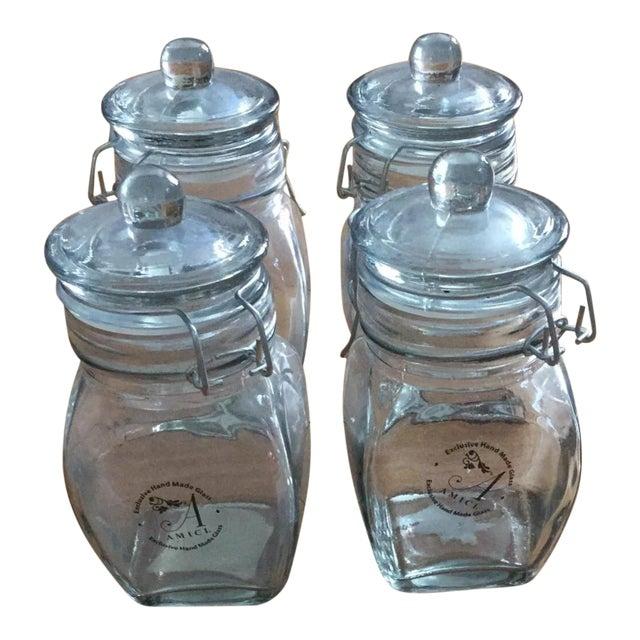 Global Amici Glass Jars - Set of 4 - Image 1 of 9