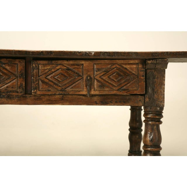 Mediterranean Antique Spanish Colonial Table For Sale - Image 3 of 10