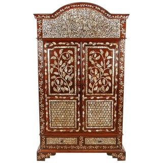 Colonial Rosewood Cabinet with Mother-of-Pearl