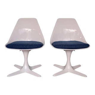 Mid-Century Modern Burke Tulip Chairs - a Pair For Sale