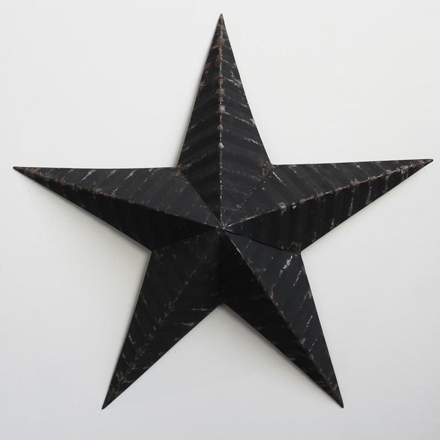 Vintage Painted Metal Star - Image 2 of 3