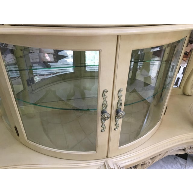 French Carved Server Display Cabinet by Pulaski For Sale - Image 4 of 11