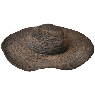 Early 20th Century Woven African Hat From Cameroon For Sale