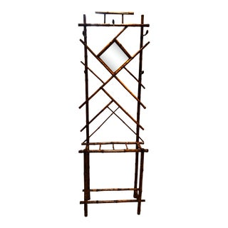 Vintage Tiger Bamboo Hall Tree Victorian Aesthetic Style For Sale