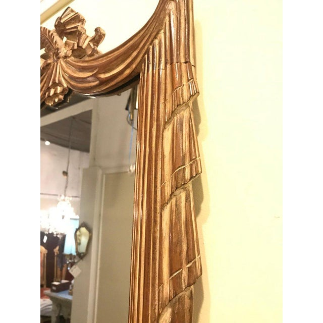 Compatible Hollywood Regency Grosfed House Ribbon and Tassle Form Mirrors, Pair For Sale In New York - Image 6 of 13