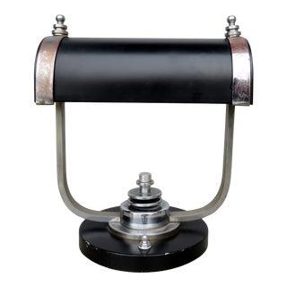 1930s Art Deco Banker's Lamp For Sale