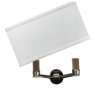 Boyd Lighting - Polished Nickel Sconce With Linen Shade For Sale