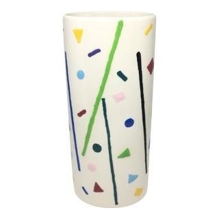 Post Modern Memphis Style Ceramic Vase For Sale