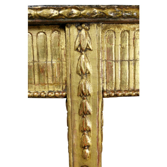 George III Giltwood Demilune Console Table For Sale In Boston - Image 6 of 9