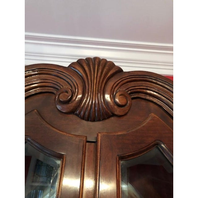 Bernhardt Mahogany Breakfront China Cabinet For Sale In Greensboro - Image 6 of 12