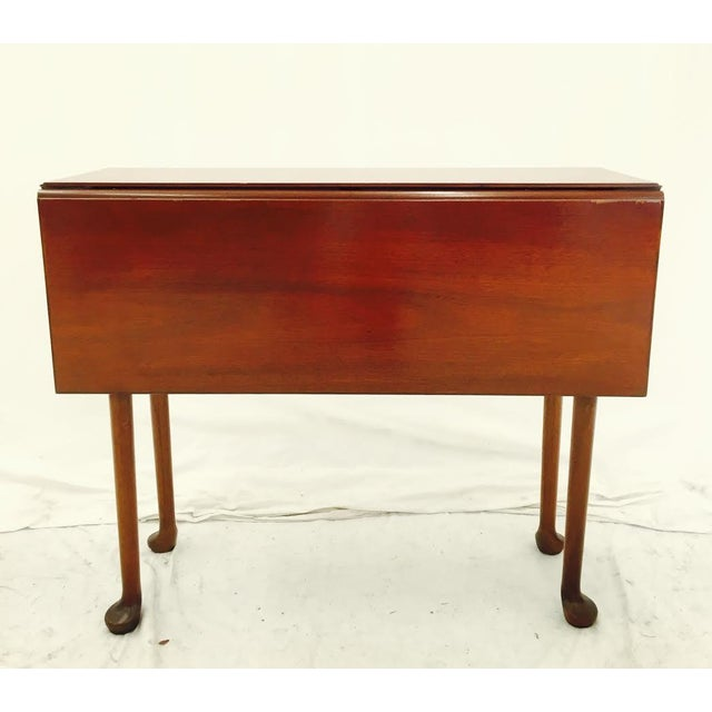vintage mahogany drop leaf entry way console table chairish. Black Bedroom Furniture Sets. Home Design Ideas