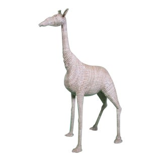 Mario Lopez Torres Wicker Giraffe Figurine For Sale