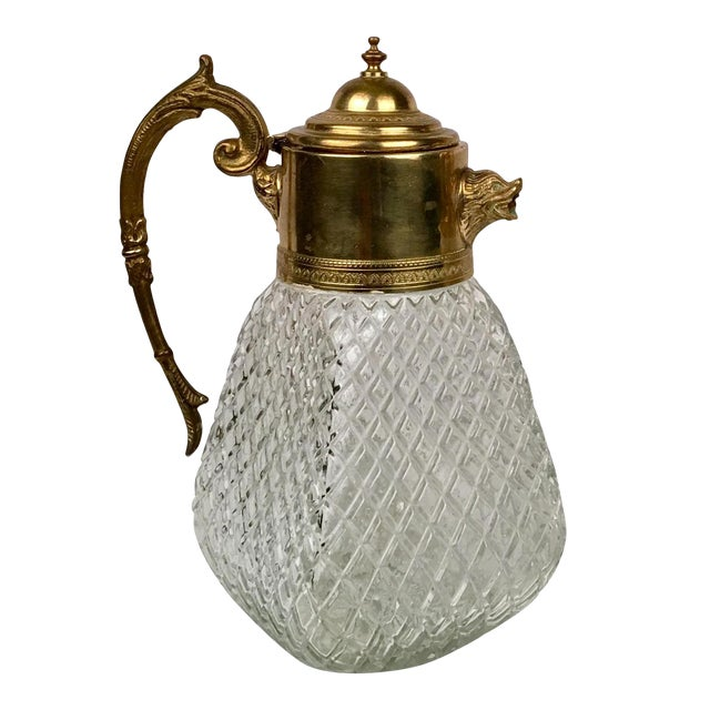 Brass & Crystal Pitcher - Image 1 of 5