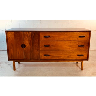 1960s Walnut Wood Credenza by Bassett Furniture Co Preview