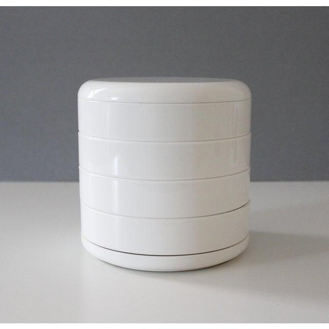InterDesign White Plastic Desk Organizer New Old Stock Modern For Sale - Image 4 of 6