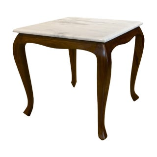 Boston Mills Corvus Marble Top Side Table For Sale