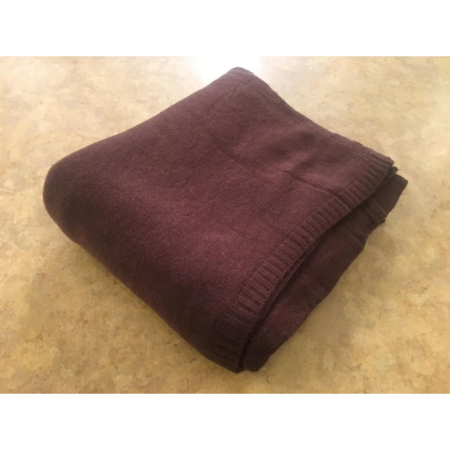 Chocolate Brown Cashmere Blanket - Image 2 of 10