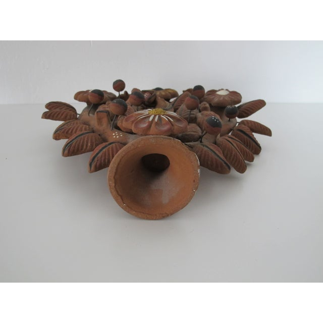 Mexican Folk Art Tree of Life Candleholder - Image 6 of 6