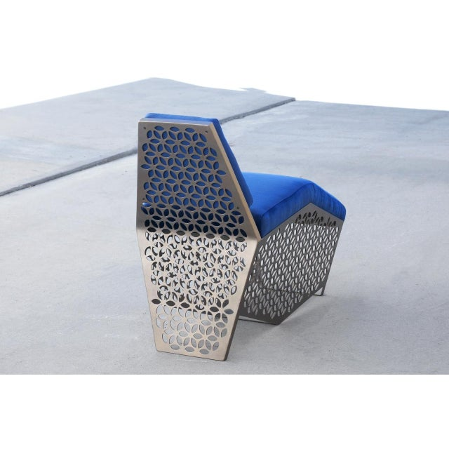 Modern Petite Chaise Lounge Chair by Rehab Vintage Interiors, Custom Made to Order For Sale In Los Angeles - Image 6 of 7
