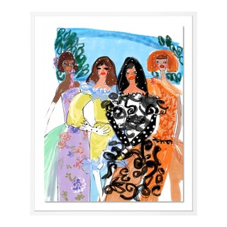 Garden of Rodarte by Annie Naranian in White Frame, Small Art Print For Sale