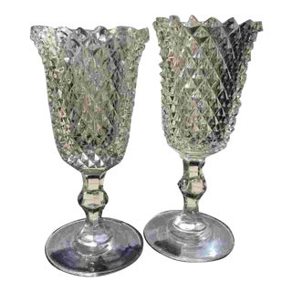 Early 20th C. American Cut Crystal Goblets For Sale