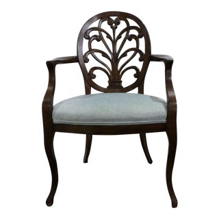 William Switzer Louis XV Carved Back Dining Armchair For Sale