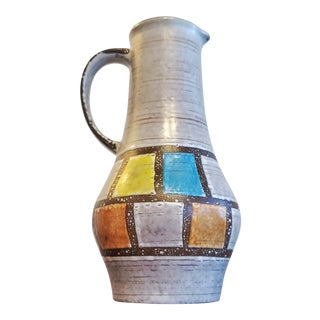 Early 60s Jasba Keramik Pitcher Vase Nr. 1207/25 For Sale