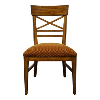 Ethan Allen Country Crossings Cross Back Side Chair For Sale