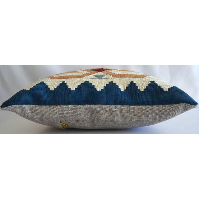 """Offered a 15"""" square hand woven one of a kind Turkish Kilim pillow. Made from 70% Silk, 30% viscone on cotton hand woven..."""