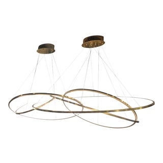 Led Oval 5 Horizontal Rings Pendant For Sale