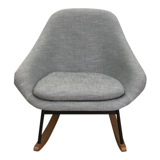 West Elm Mid-Century Modern Inspired Rocking Chair For Sale