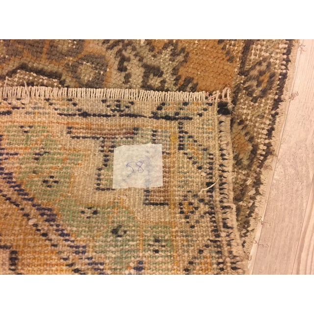 Turkish Hand Kontted Faded Rug - 1′8″ × 2′7″ For Sale - Image 5 of 6