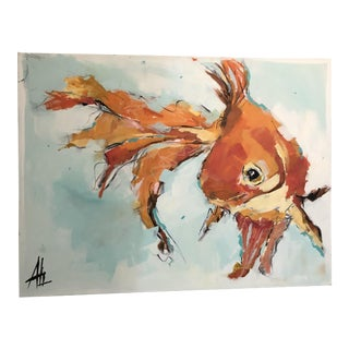 The Happiest Goldfish by Ali Leja For Sale
